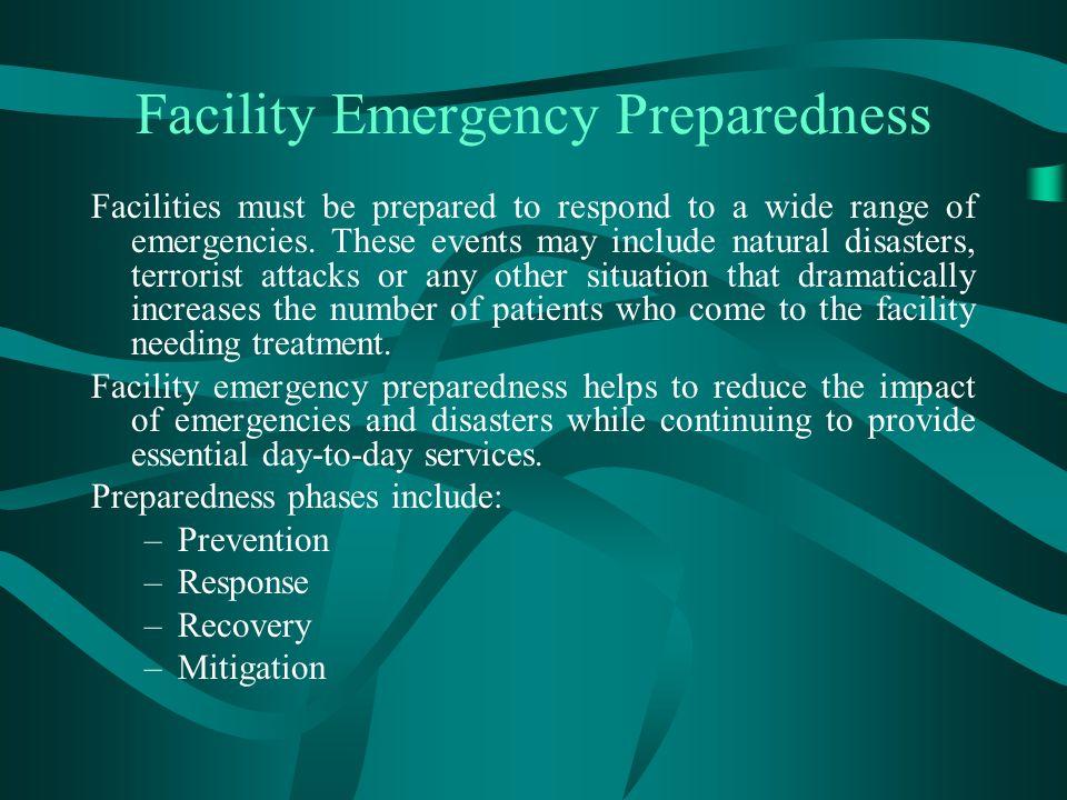 Facility Emergency Preparedness