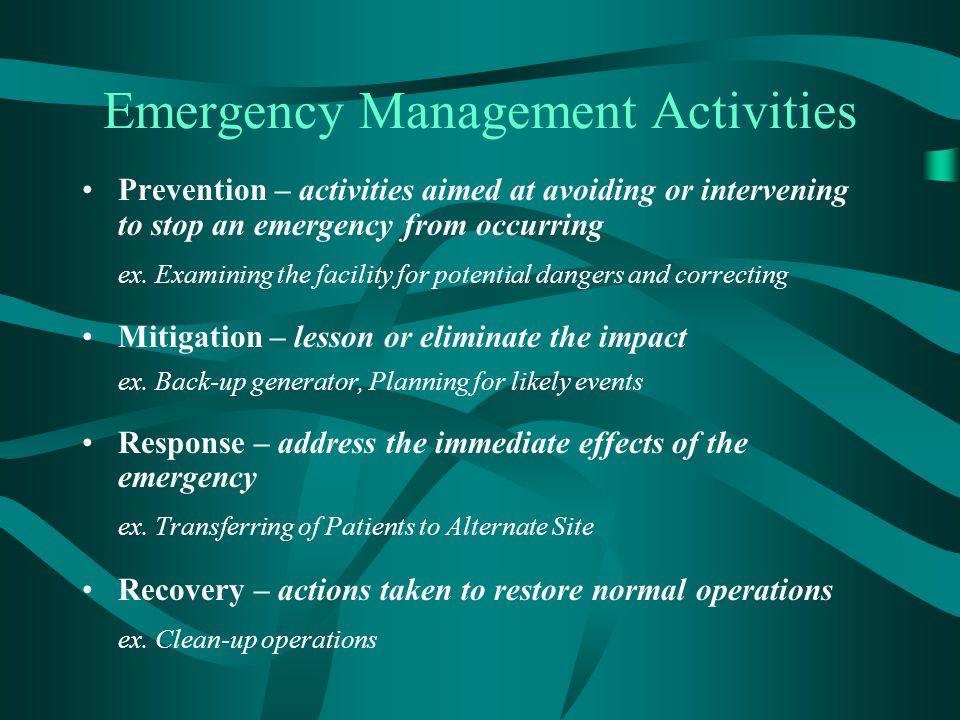 Emergency Management Activities