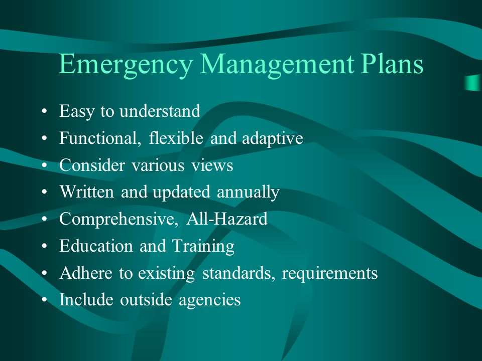 Emergency Management Plans