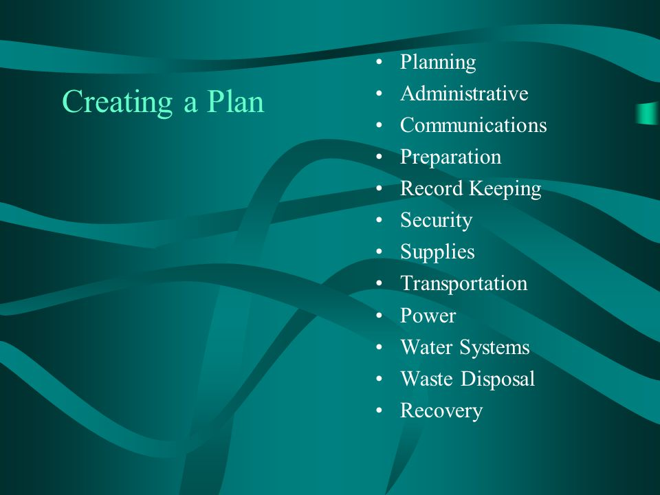Creating a Plan Planning Administrative Communications Preparation