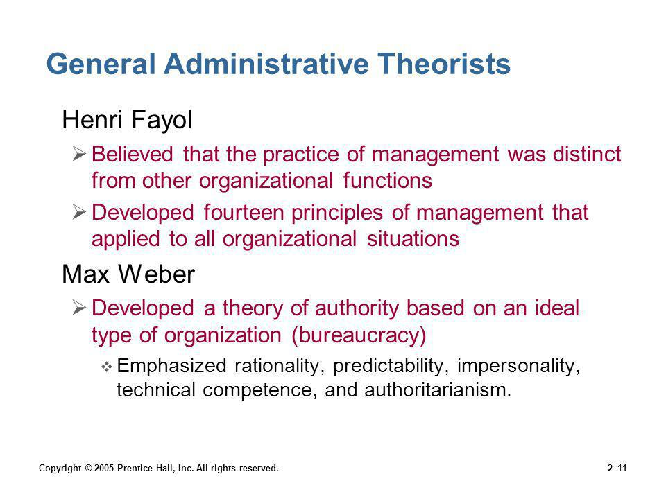General Administrative Theorists