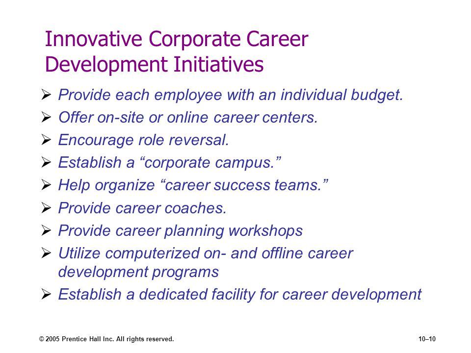 Innovative Corporate Career Development Initiatives