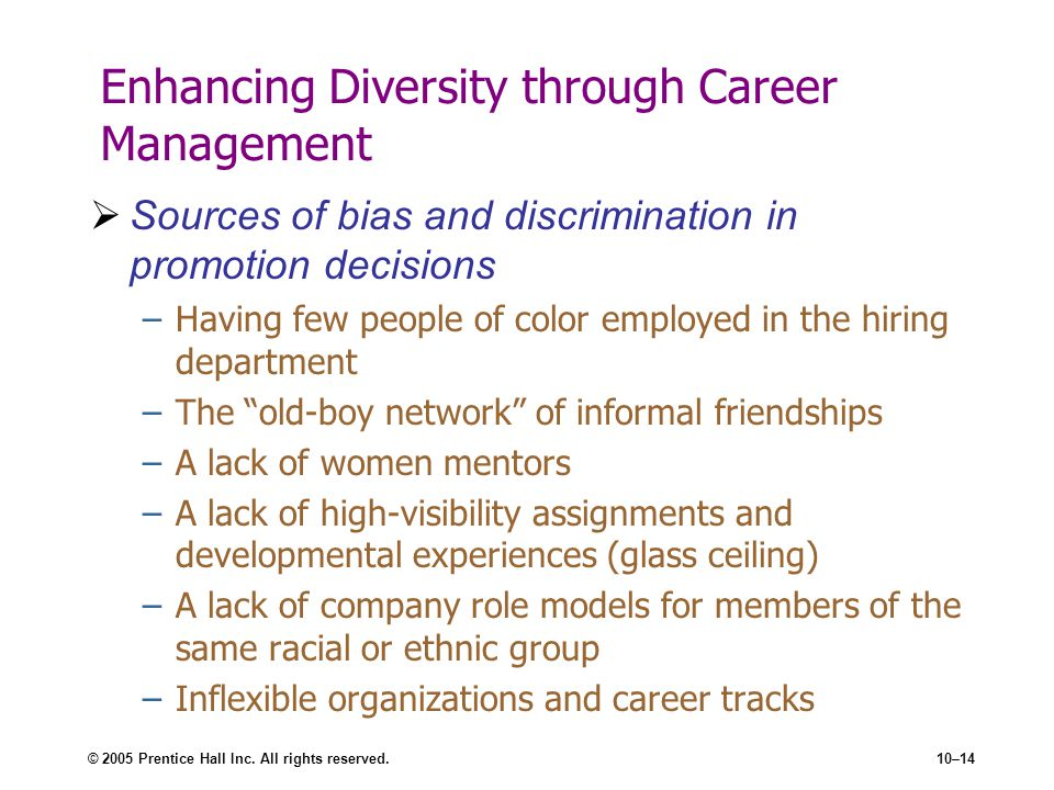 Enhancing Diversity through Career Management