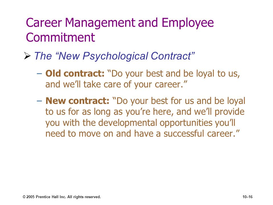 Career Management and Employee Commitment