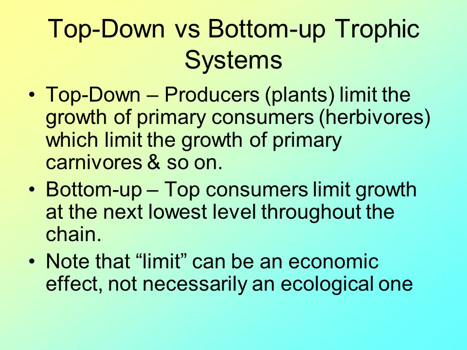 Top-Down vs Bottom-up Trophic Systems