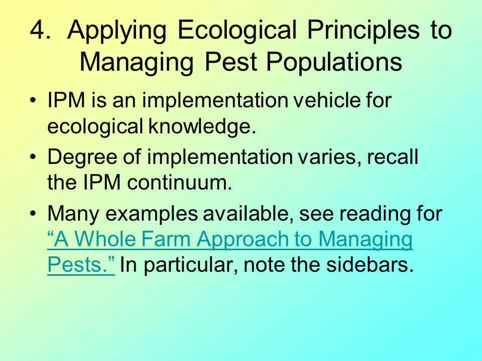 4. Applying Ecological Principles to Managing Pest Populations