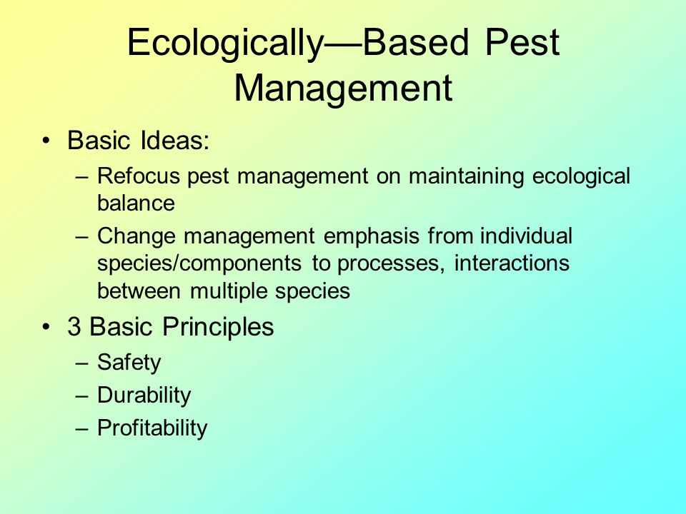 Ecologically—Based Pest Management
