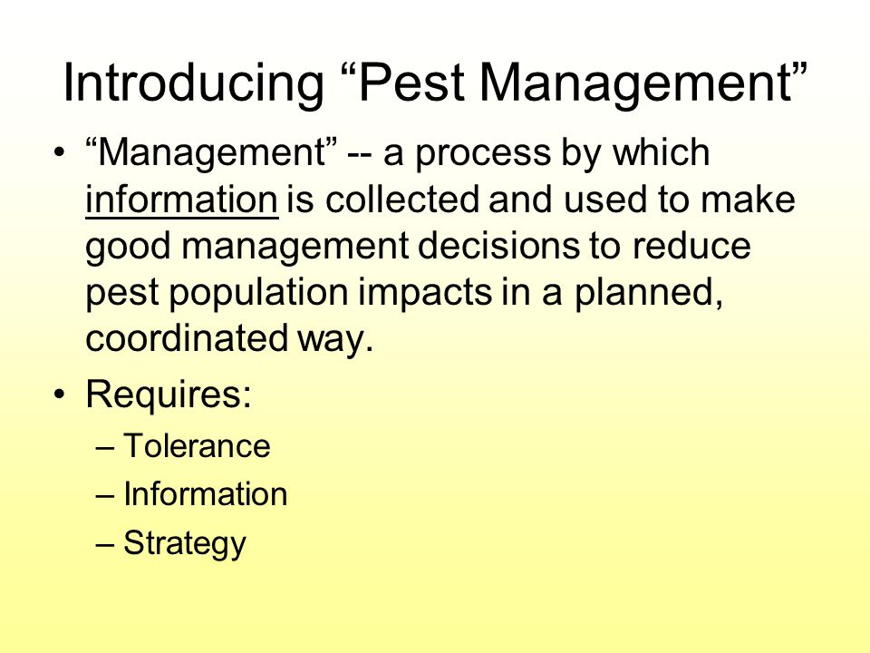 Introducing Pest Management