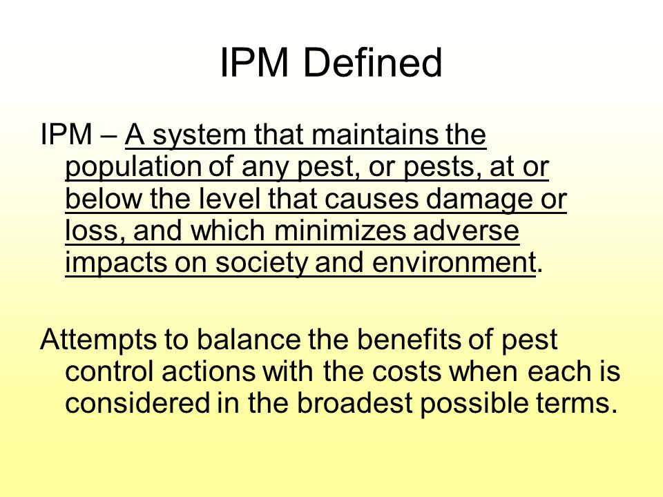 IPM Defined
