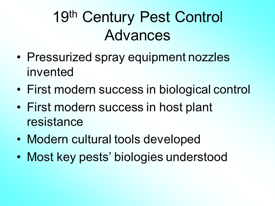 19th Century Pest Control Advances