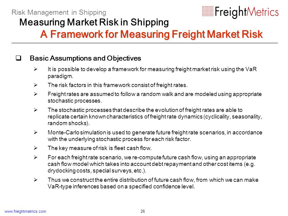 Modeling the stochastic behavior of freight rates