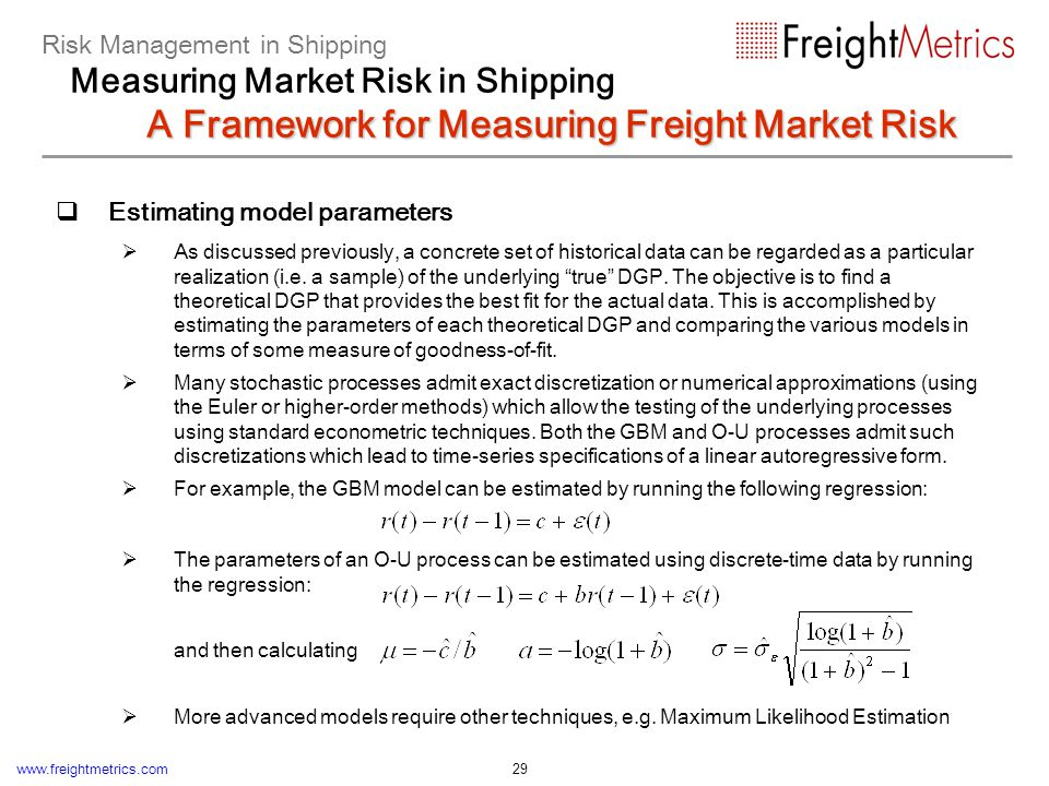 Simulating the stochastic evolution of freight rates