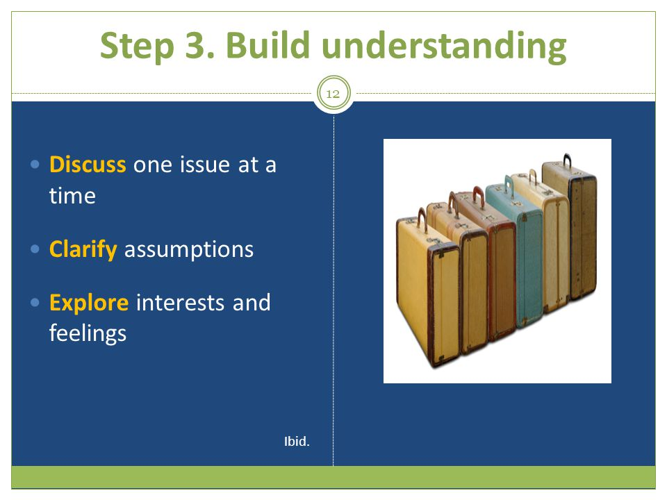 Step 3. Build understanding