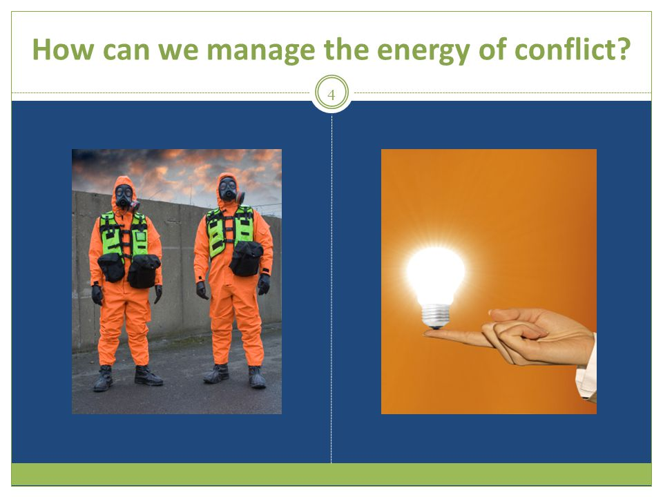 How can we manage the energy of conflict