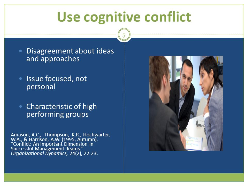 Use cognitive conflict