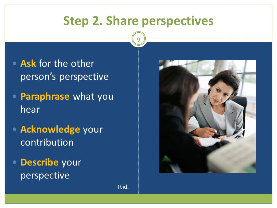 Step 2. Share perspectives