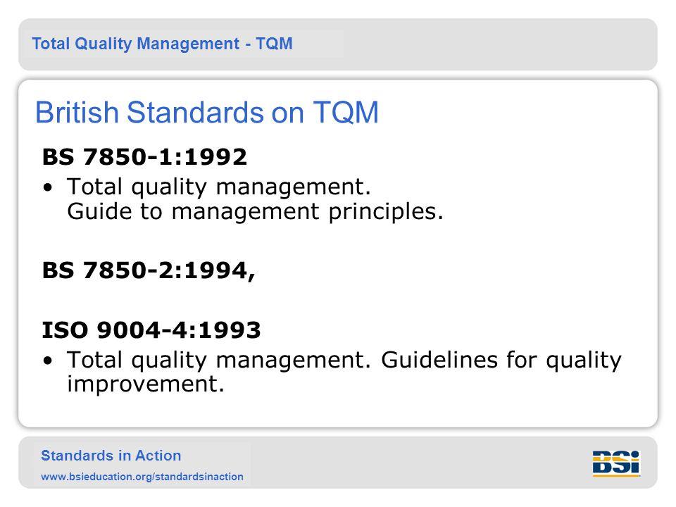 British Standards on TQM