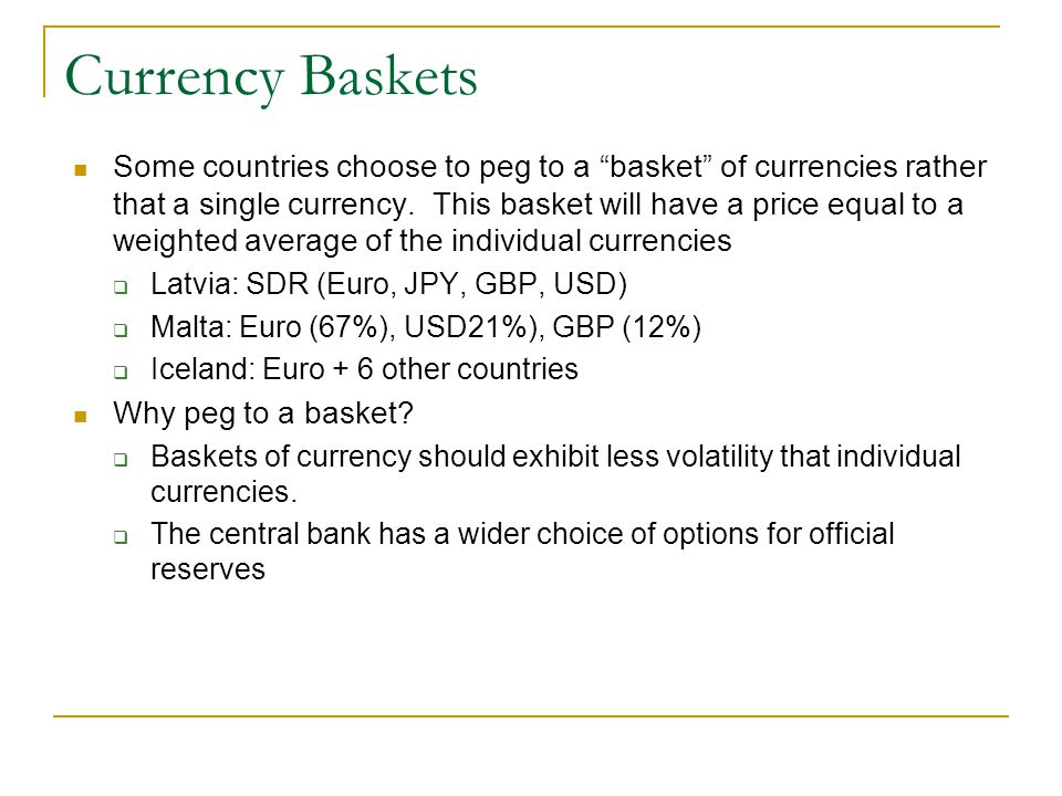 Currency Baskets