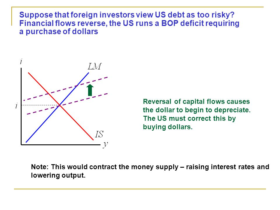 Suppose that foreign investors view US debt as too risky