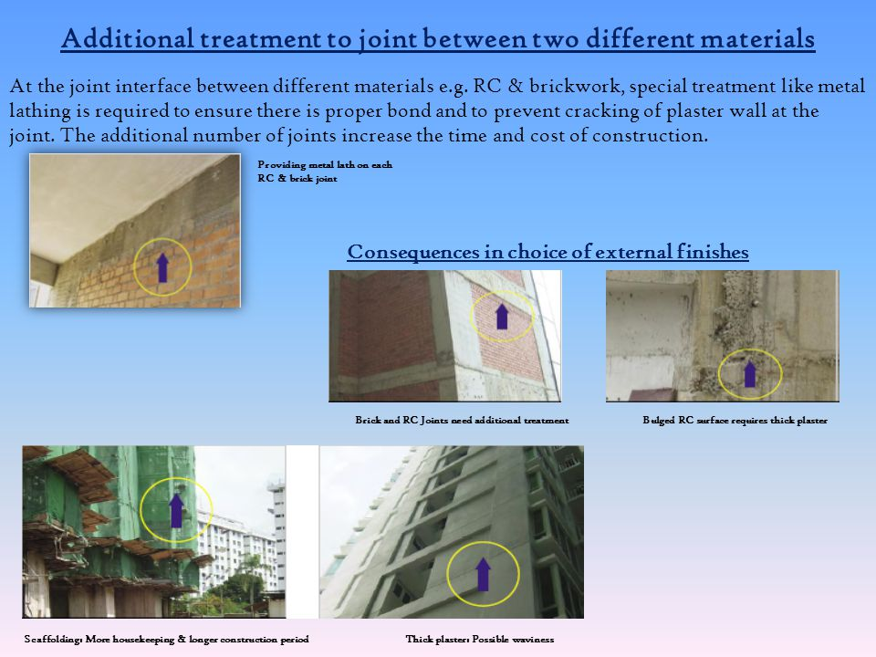Additional treatment to joint between two different materials
