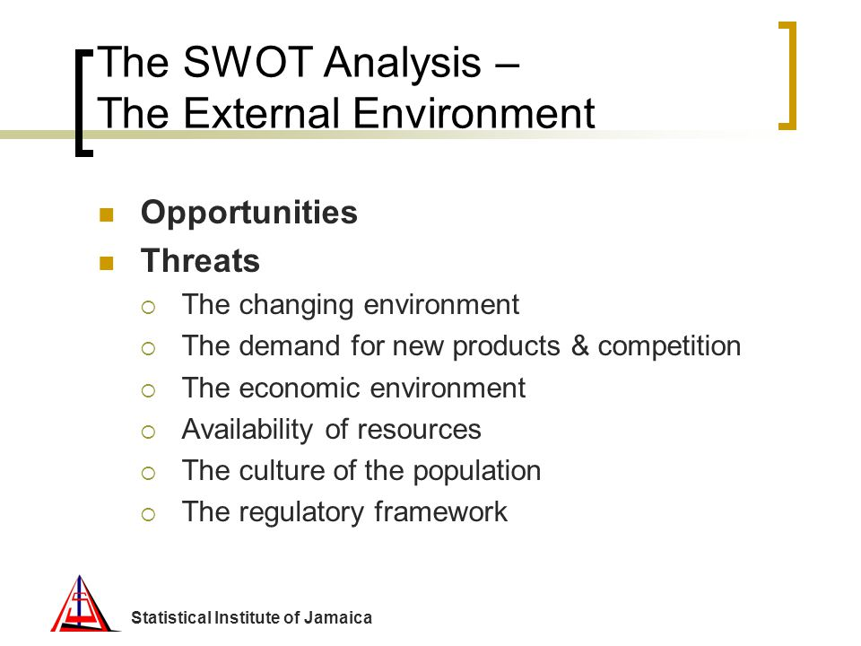The SWOT Analysis – The External Environment