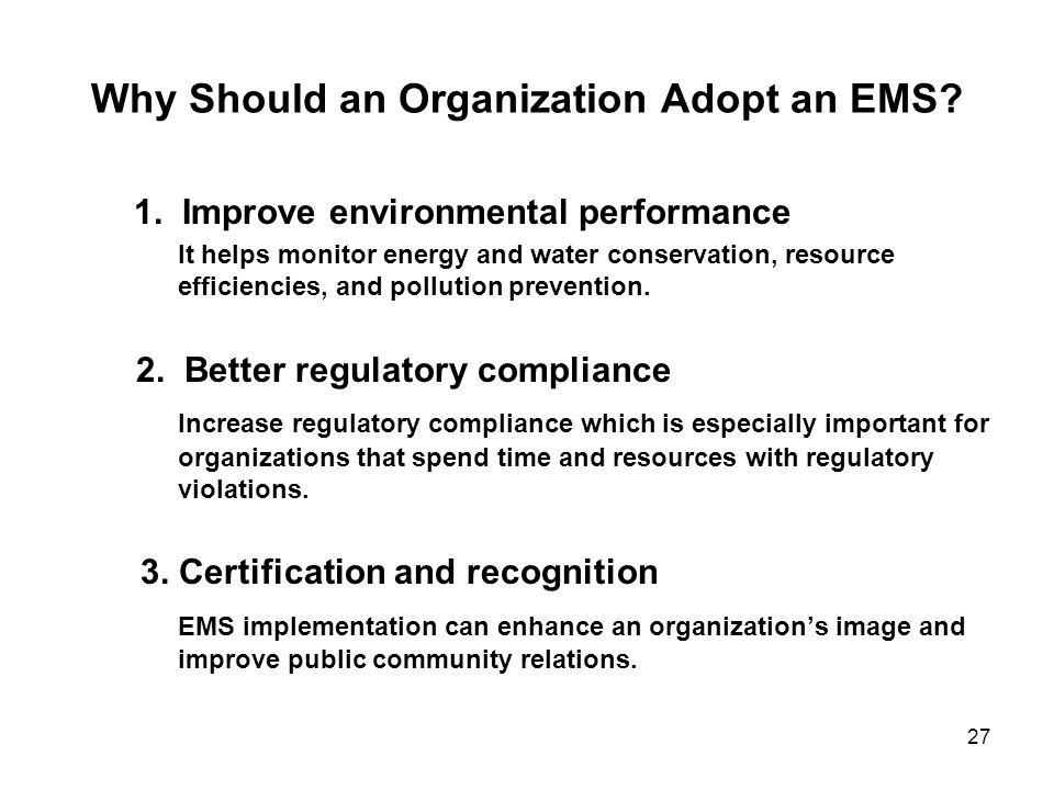 Why Should an Organization Adopt an EMS