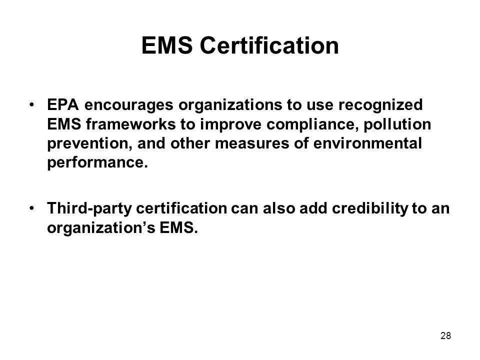 EMS Certification