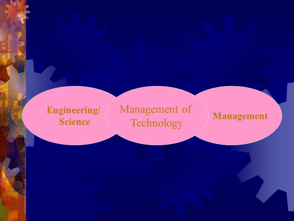 Engineering/ Science Management of Technology Management