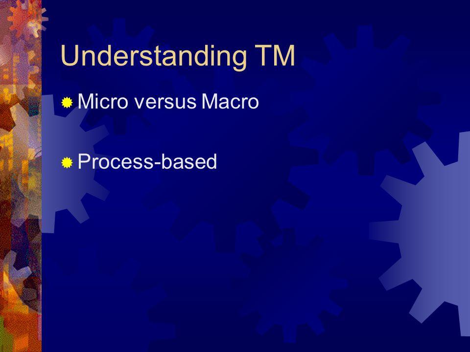 Understanding TM Micro versus Macro Process-based