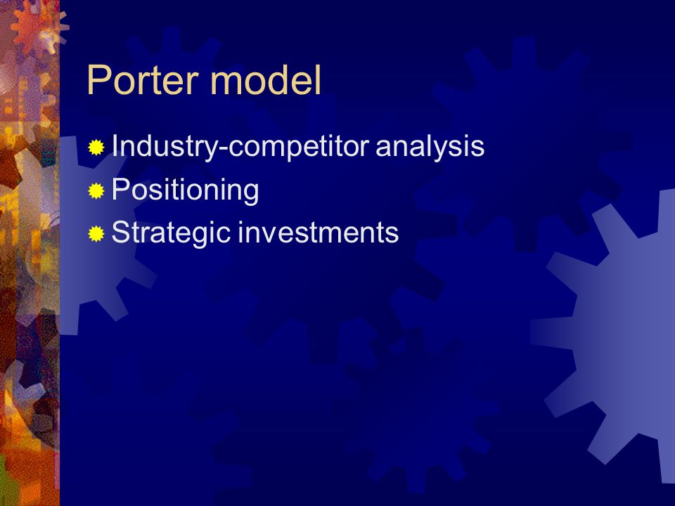 Porter model Industry-competitor analysis Positioning