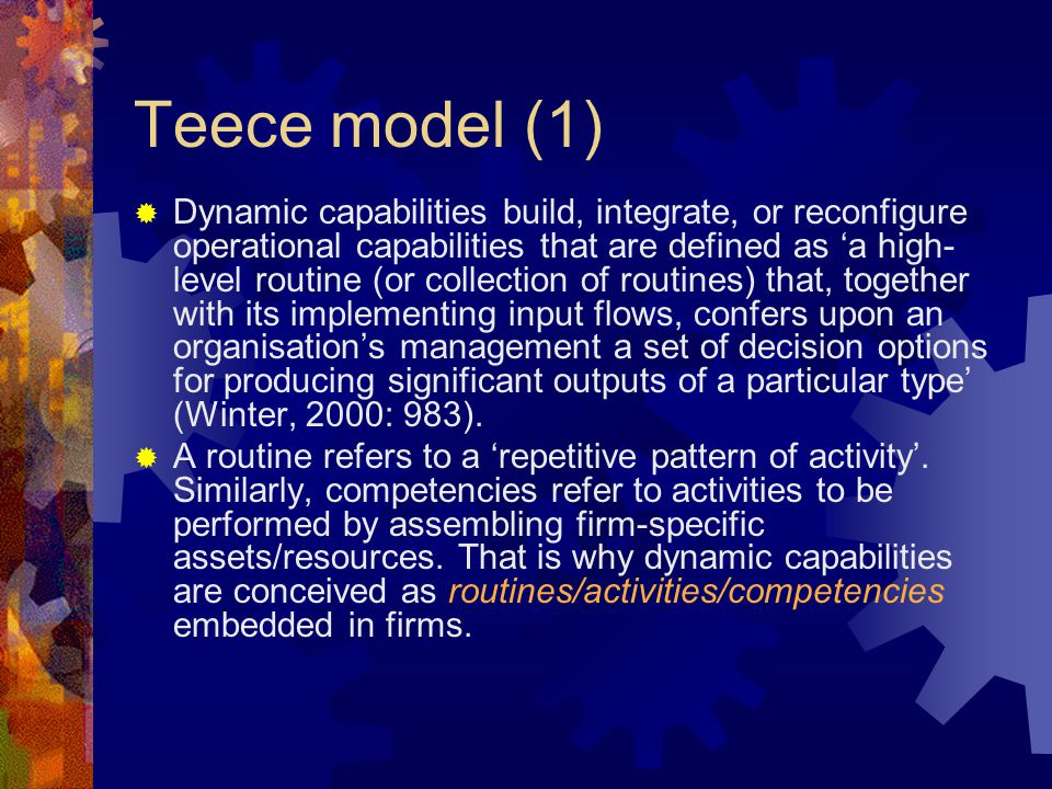 Teece model (1)