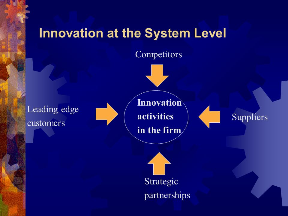 Innovation at the System Level