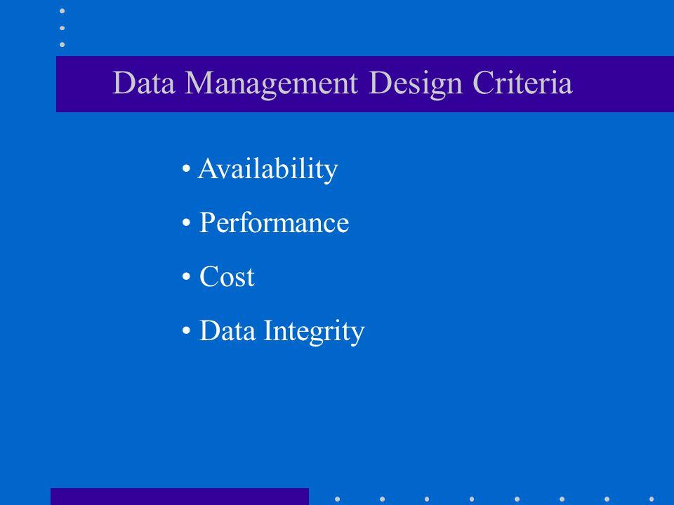 Data Management Design Criteria