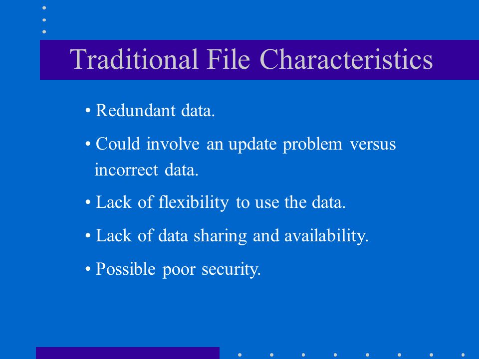 Traditional File Characteristics
