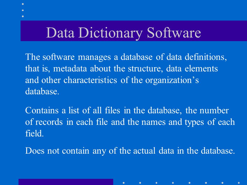 Data Dictionary Software