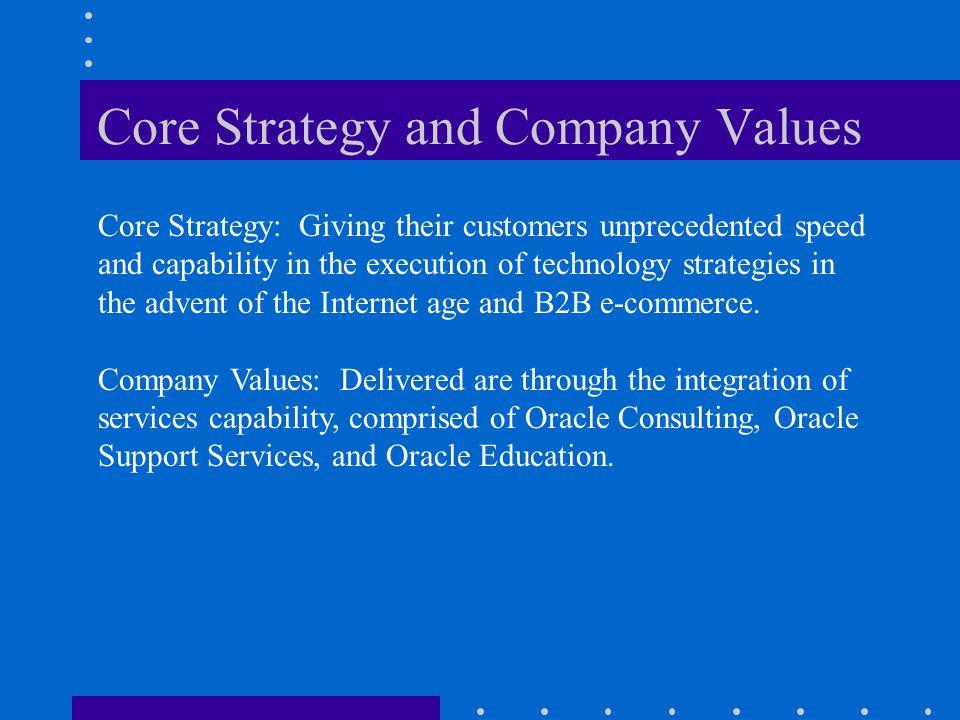 Core Strategy and Company Values