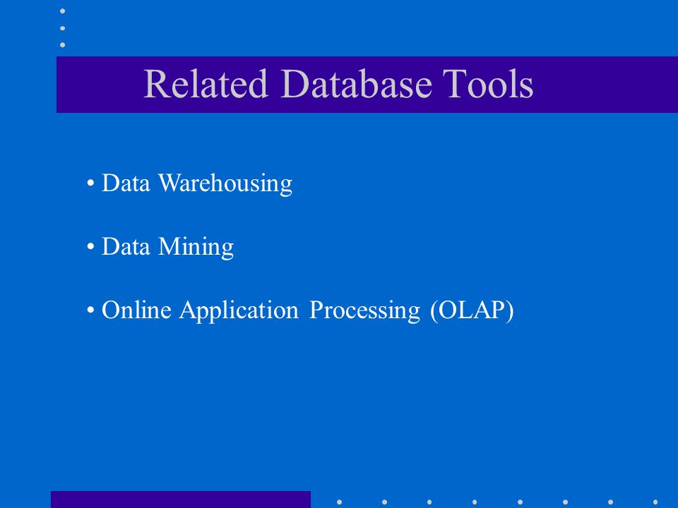 Related Database Tools