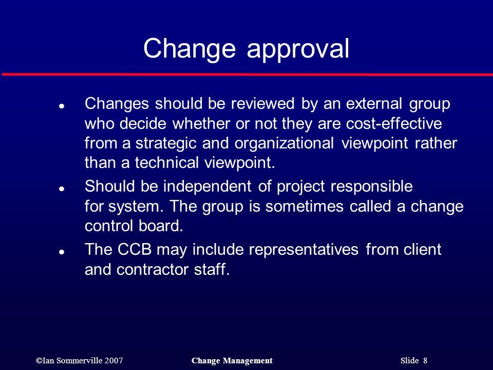 Change approval