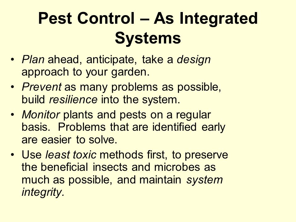 Pest Control – As Integrated Systems