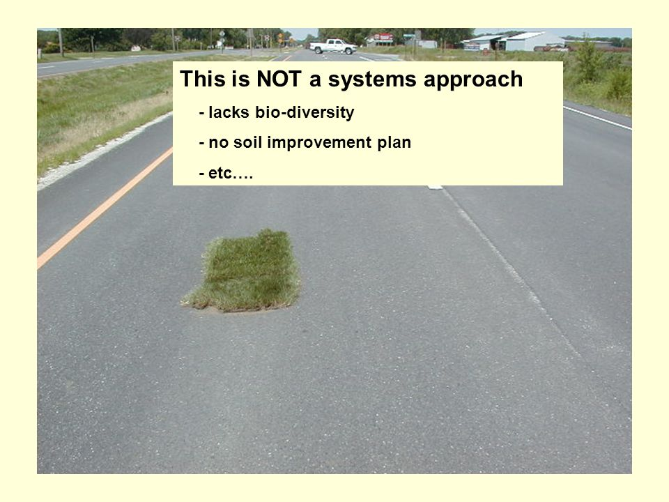 This is NOT a systems approach