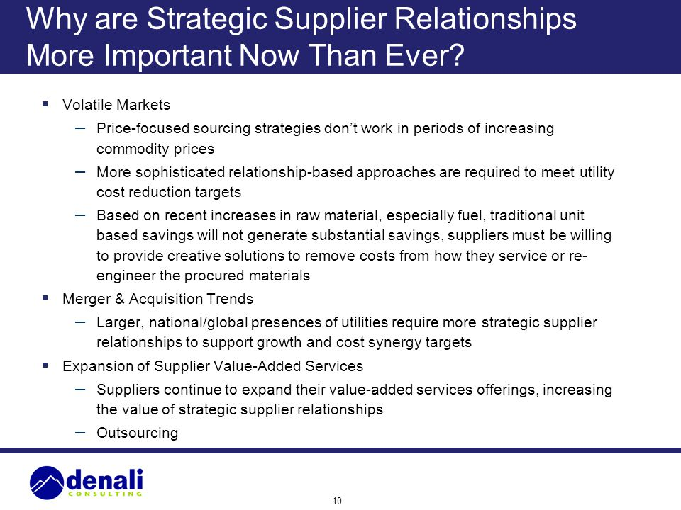 Why are Strategic Supplier Relationships More Important Now Than Ever