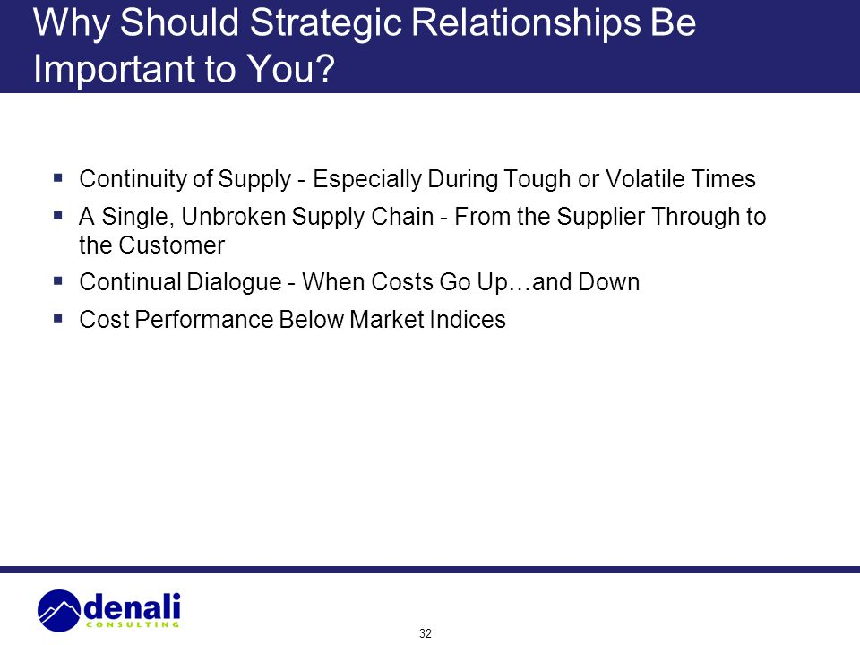 Why Should Strategic Relationships Be Important to You