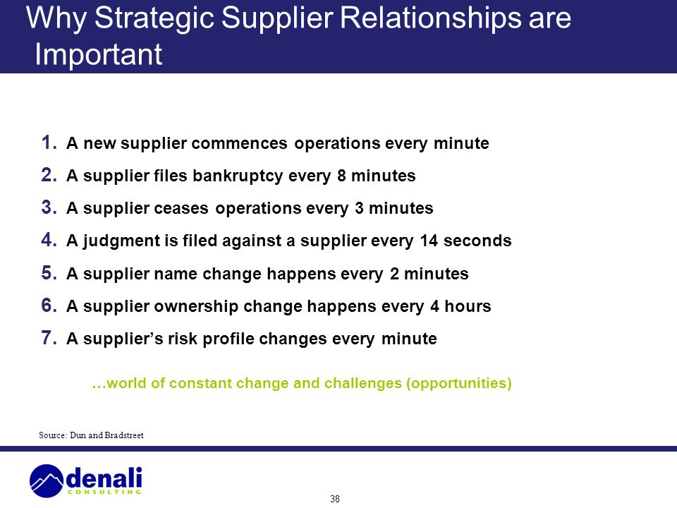 Why Strategic Supplier Relationships are Important