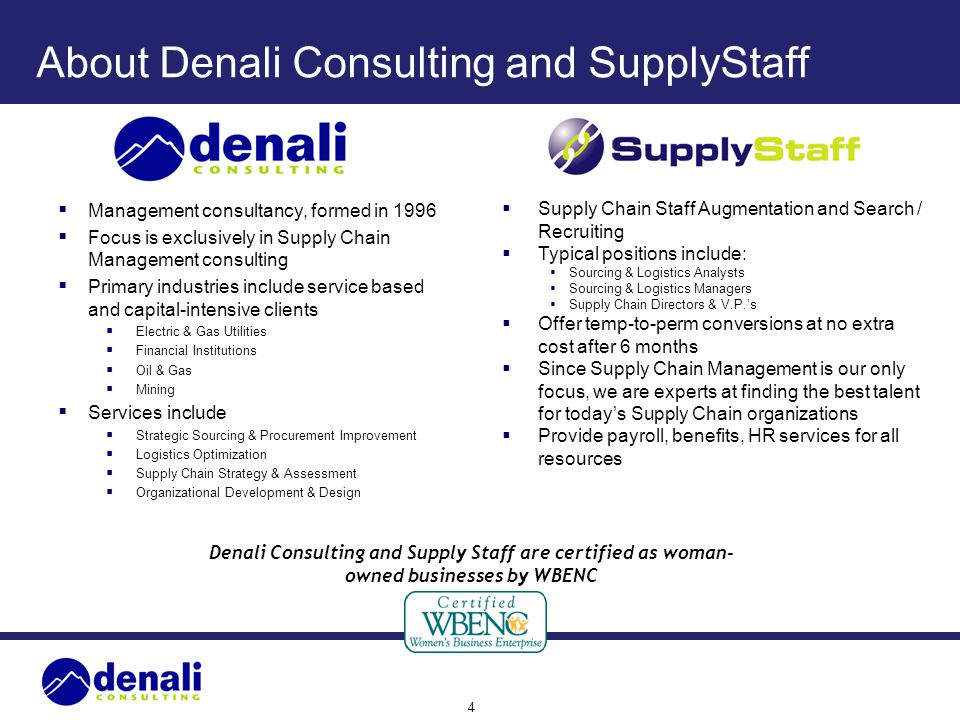 About Denali Consulting and SupplyStaff
