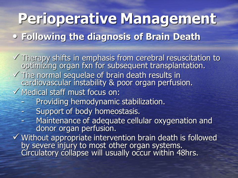 Perioperative Management