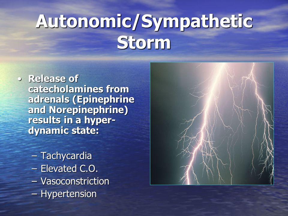 Autonomic/Sympathetic Storm