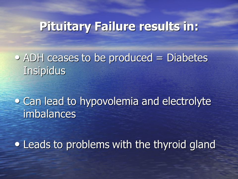 Pituitary Failure results in: