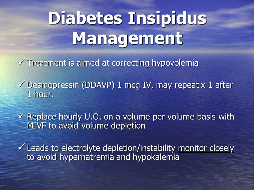 Diabetes Insipidus Management