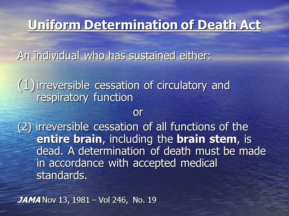 Uniform Determination of Death Act