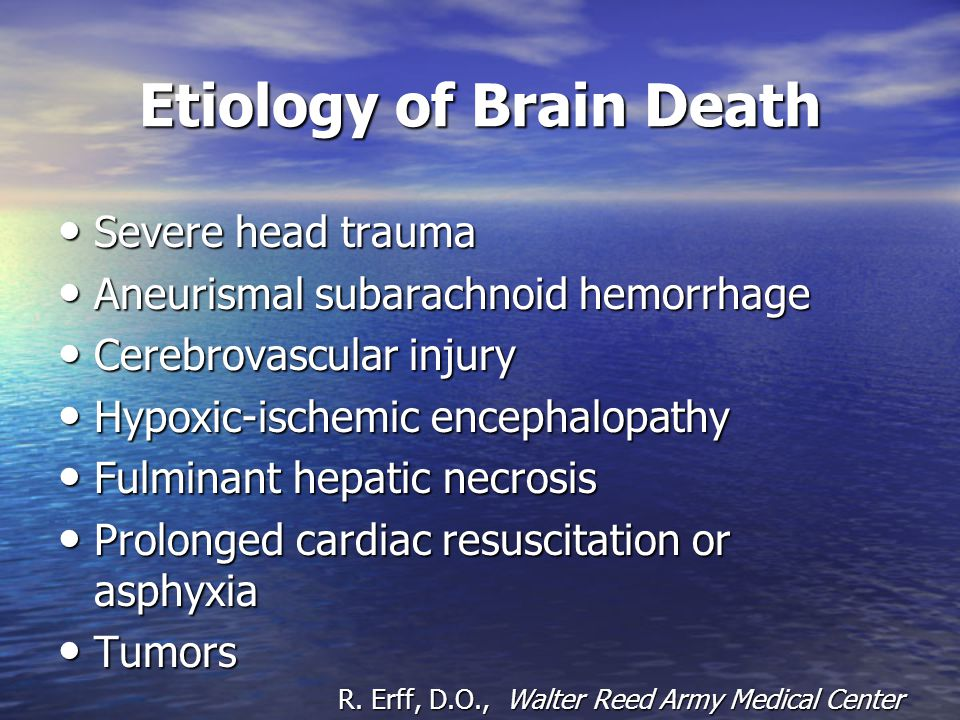 Etiology of Brain Death